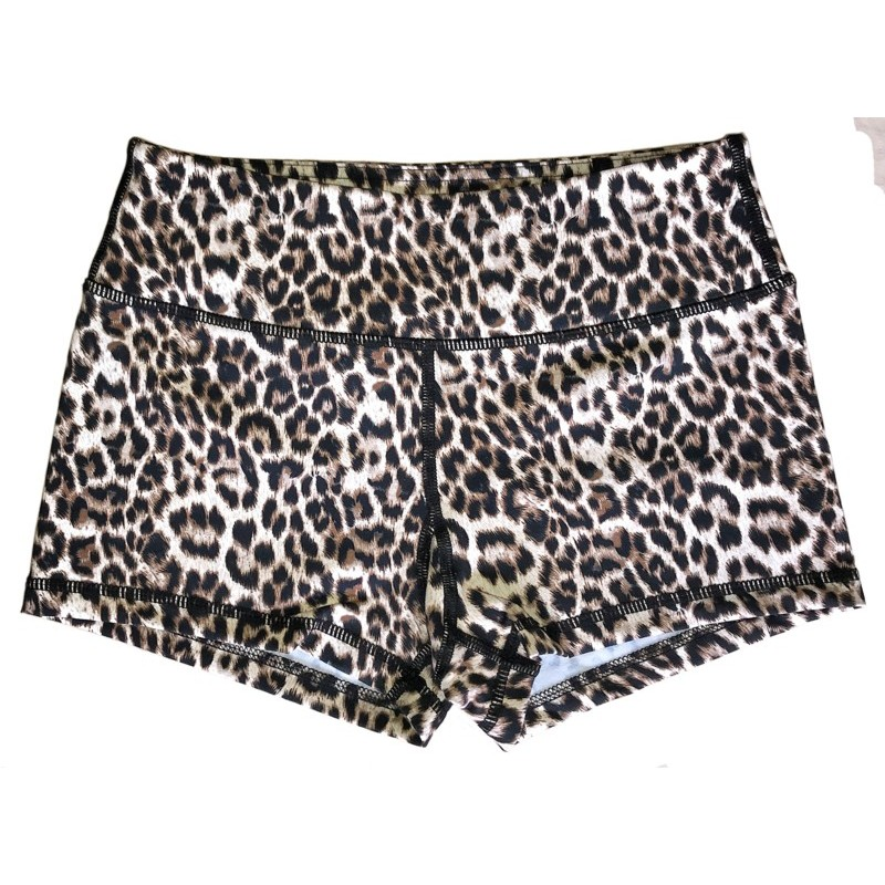 Booty Shorts Savage Barbell - Leopard