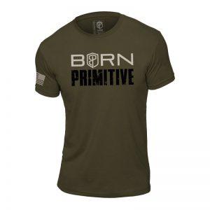 T-shirt Born Primitive Honor the Fallen Green