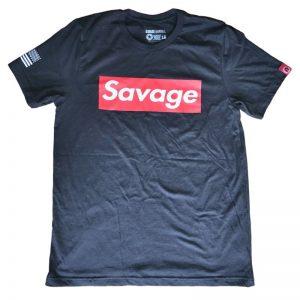 T-shirt Savage Barbell Supreme Heather Black