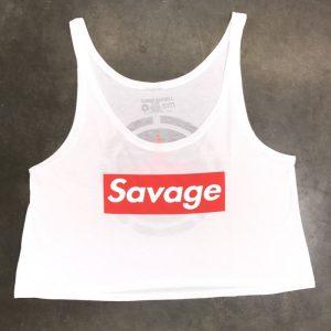 Crop Top Savage Barbell Savage Box White