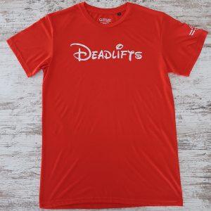 T-shirt Deadlifts Red