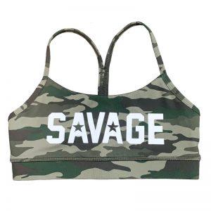 Sport Bra Green Camo - Savage Barbell