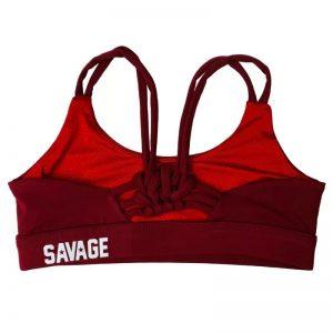 Sport Bra Knotty Burgundy - Savage Barbell