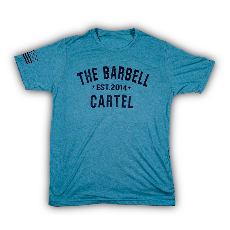 Classic Logo Tee Blue - The Barbell Cartel