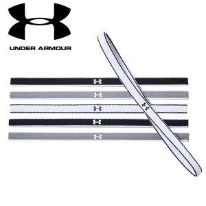 Under Armour 6-Pack Headbands Black White