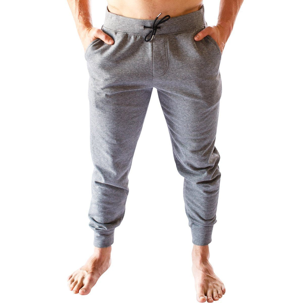 Men Warm Up Joggers - Heather Grey - Born Primitive