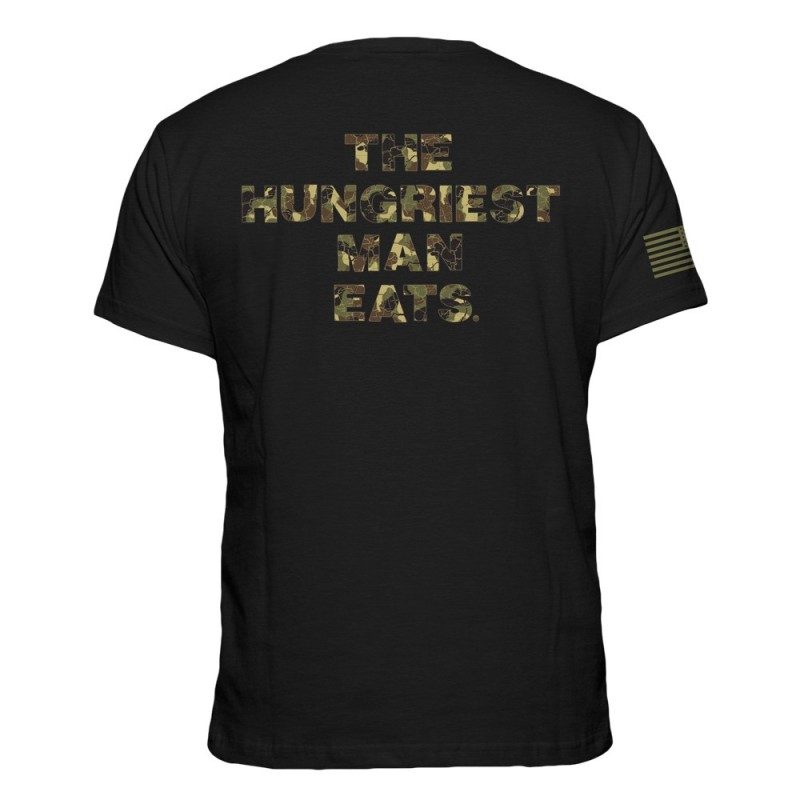 T-shirt The Hungriest Man Eats - Black - Born Primitive