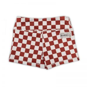 Comp Short 2.0 - Maroon Checkered - The Barbell Cartel