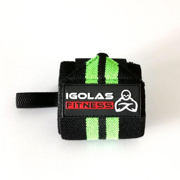 Wrist Wraps Black Green - IGOLAS