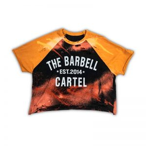 Classic Logo Distressed Tee Gold - The Barbell Cartel