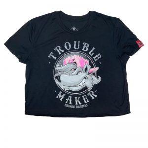 Crop Top Trouble Maker - Savage Barbell