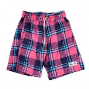 Freestyle Shorts Blue/Pink/Tartan - The Barbell Cartel