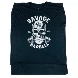 Rolled Cuff Tee - Bite Me - Savage Barbell