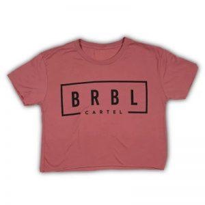 The Barbell Cartel Crop Tee BRBL Brick