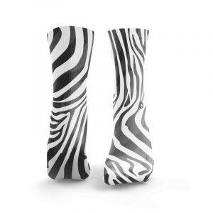 Meias ZEBRA Black White - HEXXEE Socks