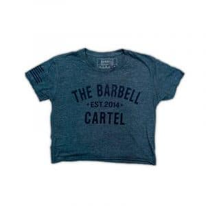 The Barbell Cartel Classic Logo Cropped T-Shirt Navy