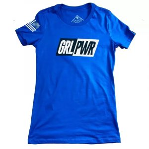 T-shirt GRL PWR Blue - Savage Barbell