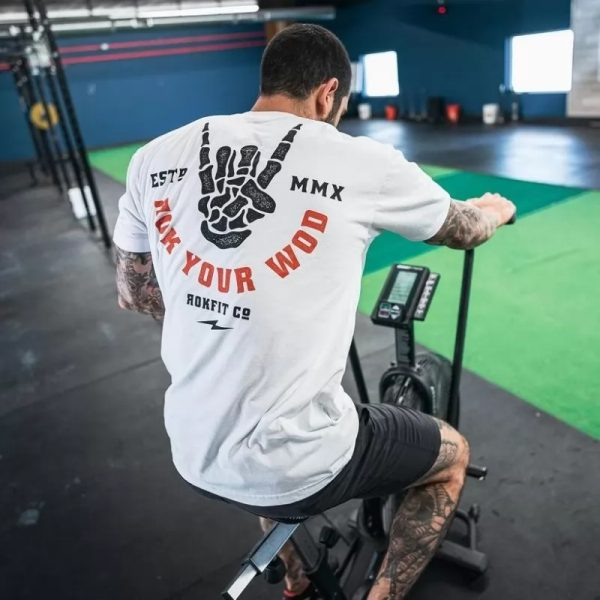 T-shirt ROK YOUR WOD White - Rokfit