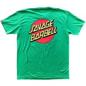 Men T-shirt GREEN RETRO SAVAGE – Savage Barbell